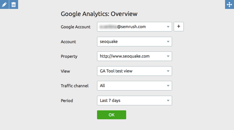 My Reports Google Analytics Widget setup