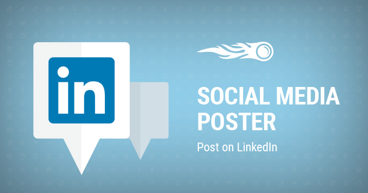 Post on LinkedIn with Social Media Poster banner
