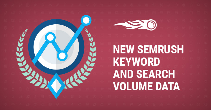New SEMrush keyword and search volume data banner