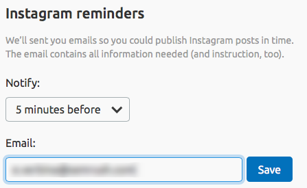 instagram reminders