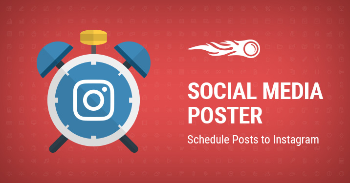 Schedule posts to instagram with social media poster banner